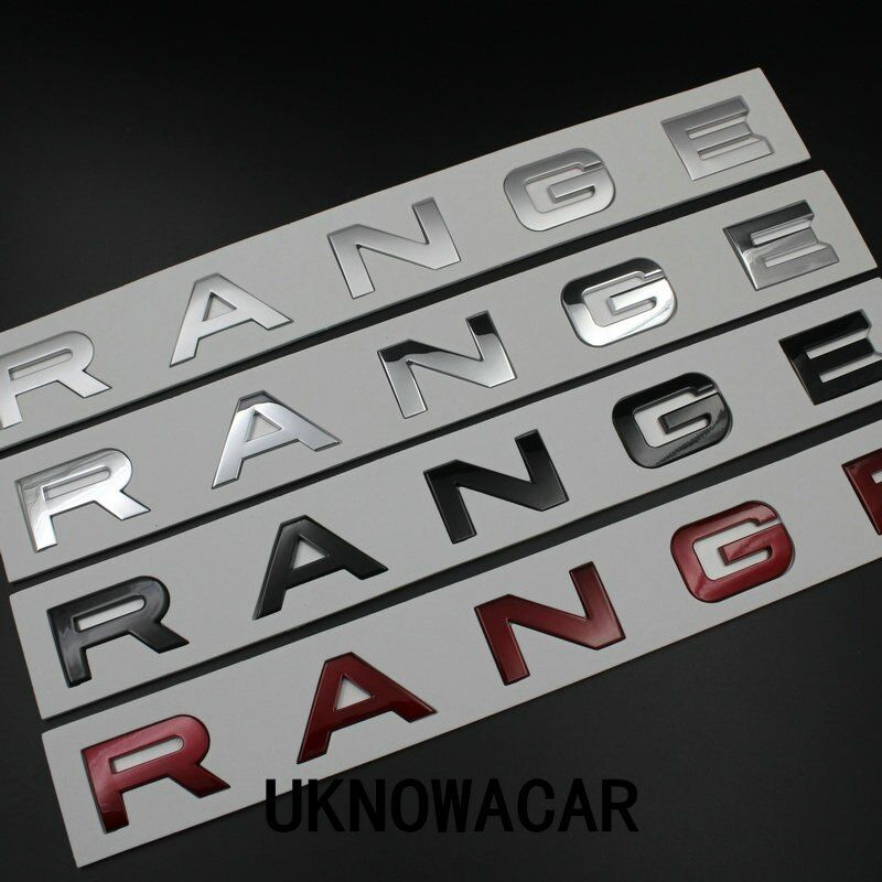 Car Styling Front Hood/Real Car Badge Emblem Sticker Letters Sports Style For Range Rover Accessories Hight Quality