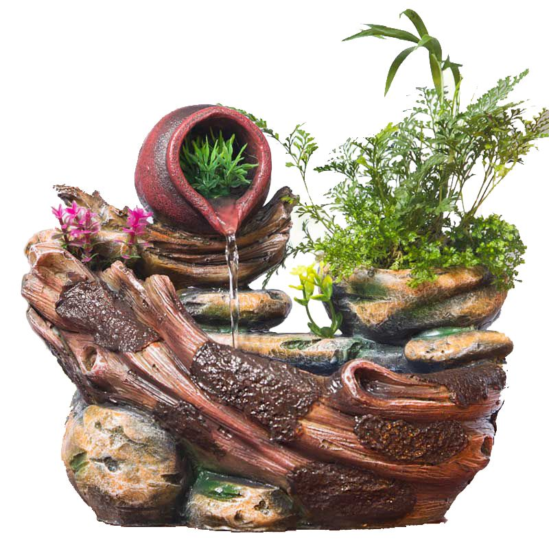 Micro Landscape Decoration Decorative Indoor Potted Succulents Home Furnishing Rockery Water Fountain Fengshui Resin Decoration