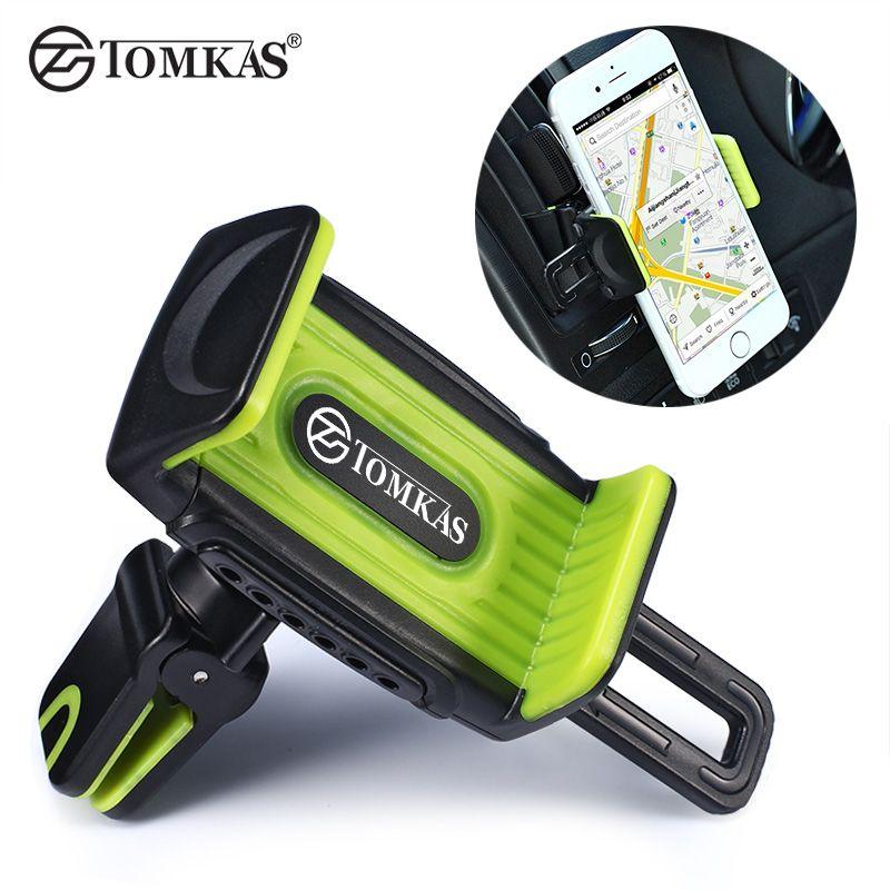 Tomkas вентиляционное отверстие автомобильный держатель телефона стенд с духами комплект крепления 360 вращения держатель телефона для Iphone 5 6 7...