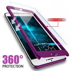 VOERO 360 Degrés Full Cover Case Pour iPhone 6 s 7 8 Plus Dur PC en plastique Téléphone Cas Pour iPhone X 6 6 s 5 5S SE Housse Coque