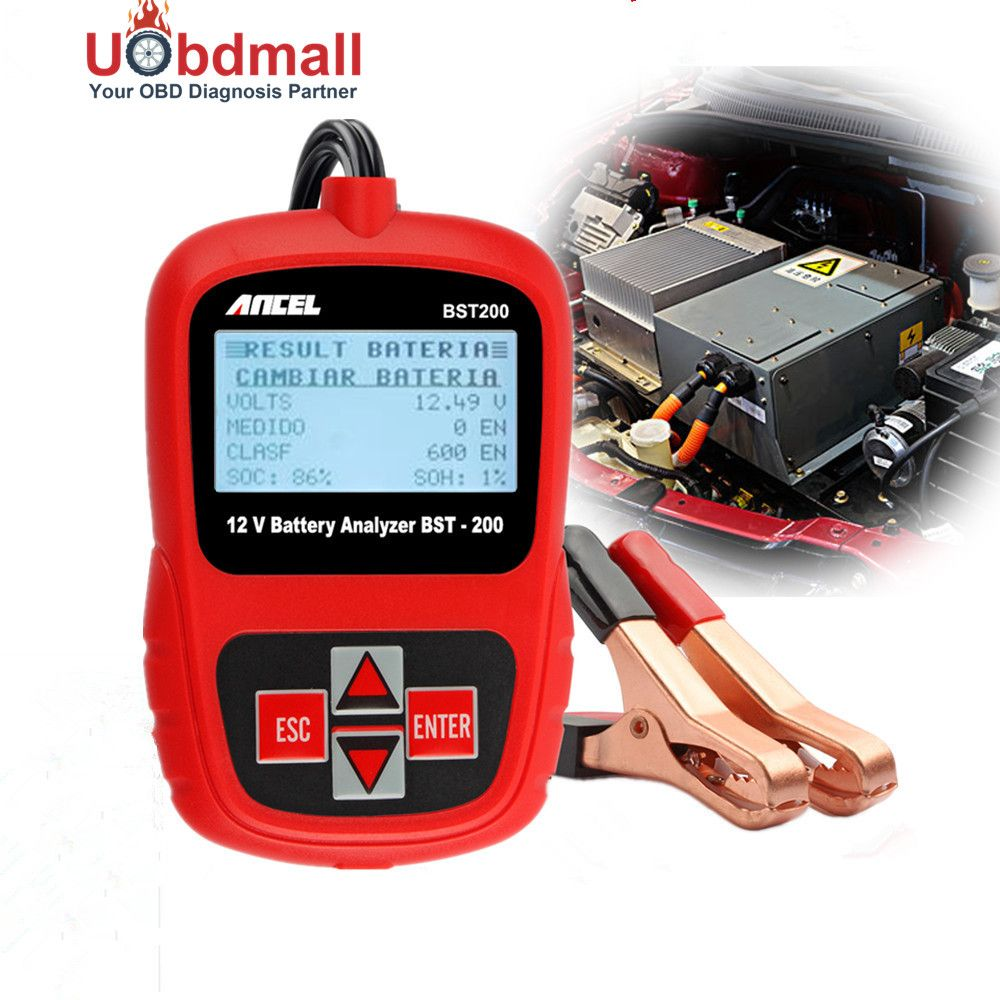 Multi-language Car Battery Tester 12V ANCEL BST200 Automotive Battery Analyzer 1100CCA Detect Bad Cell Battery Diagnostic Tool