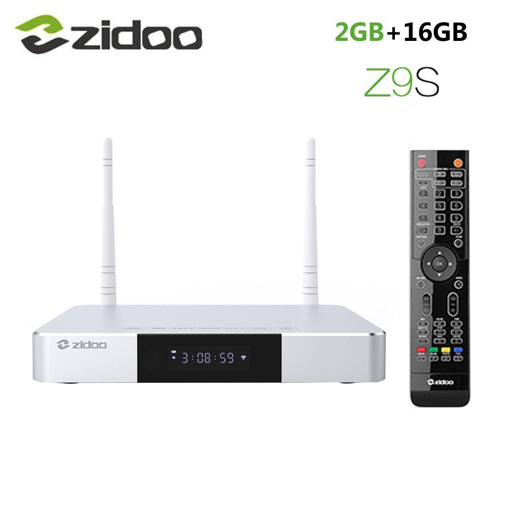 Zidoo Z9S Smart Android 7.1 TV Box 1000M LAN 4K HDR décodeur Realtek RTD1296DD 2GB RAM 16GB ROM SATA 3.0 lecteur multimédia vs X9S