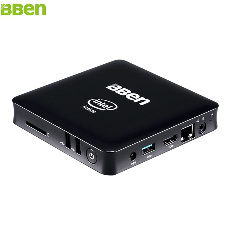 BBEN Z8350 MN11 Mini PC de Windows 10 Intel Quad Core 2G 4 GB RAM Mini PC HDMI WiFi BT4.0 Negocio Hogar de Mini PC de la Computadora Micro