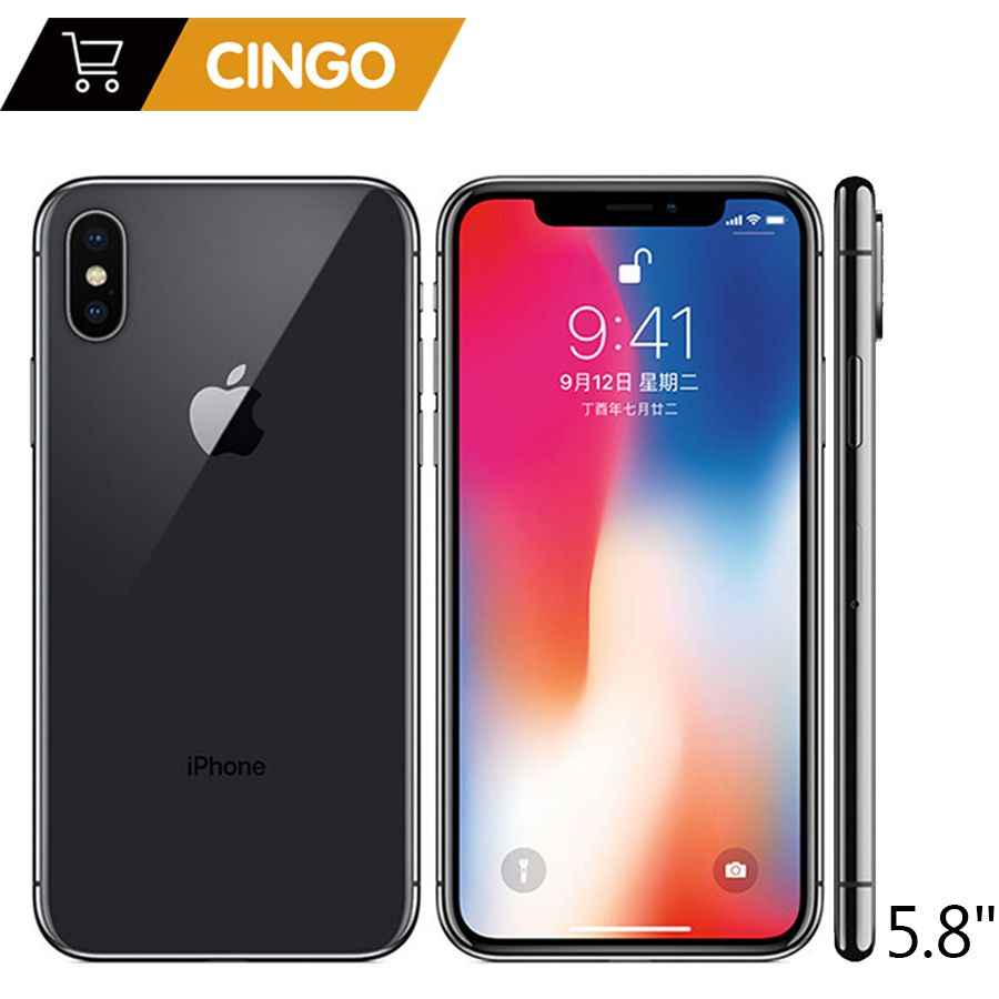Original Apple iphone X Gesicht ID 5,8 zoll 3 gb RAM 64 gb/256 gb ROM Hexa Core iOS a11 12MP Dual Zurück Kamera 4g LTE Entsperren iphone x