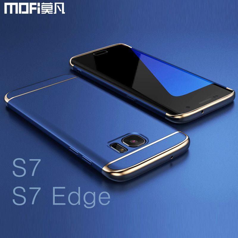 Pour Samsung S7 bord cas pour Samsung S7 cas MOFi de couverture arrière dur coque pour galaxy s7 couverture de bord s7 capa funda de luxe or bleu