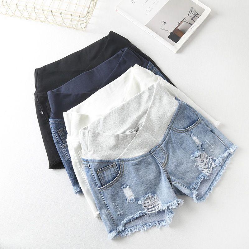 Shorts pour femme enceinte vêtements d'été Shorts en Denim taille basse vêtements d'été nouveau printemps pantalons amples pour femmes enceintes vêtements