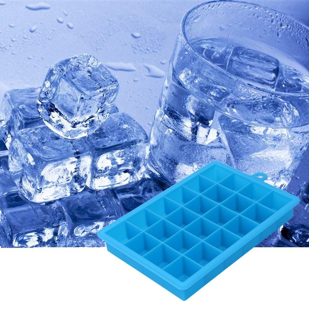 Große Eis Form 24 Grid Quadratische Form Silikon Ice Tray Obst Eis Maker Küche Bar Trinken Zubehör