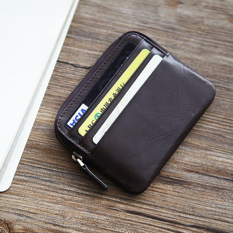 Lanspace мужской кожаный бумажник Марка Кошелек держатель карты модные кошельки для монет Держатели