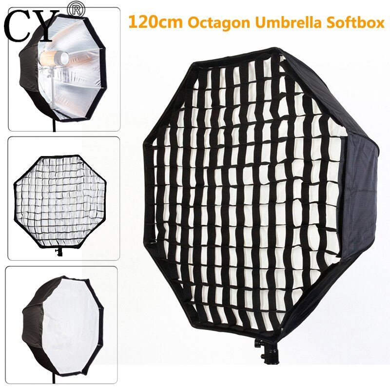 Photo Studio 120cm Octagon Umbrella Softbox Diffuser Reflector with Nylon Gird for Speedlite Flash Photography Studio Soft Box