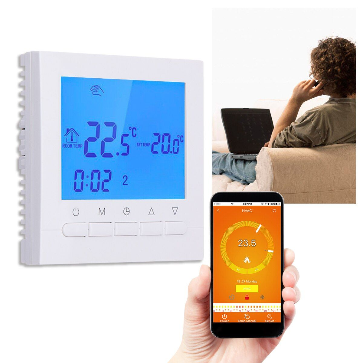 LCD display Wireless Thermostat Underfloor Electric Heating App Control WIFI Control Thermoregulator Temperature Controller