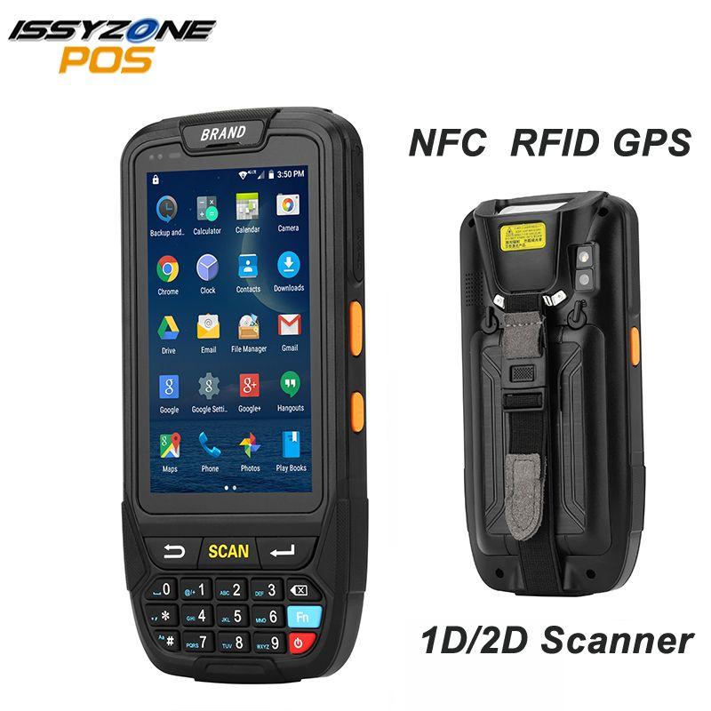 ISSYZONEPOS 4G PDA tenu dans la main Android 7.0 Terminal de position écran tactile 2D lecteur de codes à barres sans fil Wifi Bluetooth GPS lecteur de codes à barres