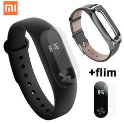 Global Original Xiao mi banda 2 con Passometer actividad Tracker Xao mi pulsera inteligente Fitness seguimiento Xiao mi mi band2