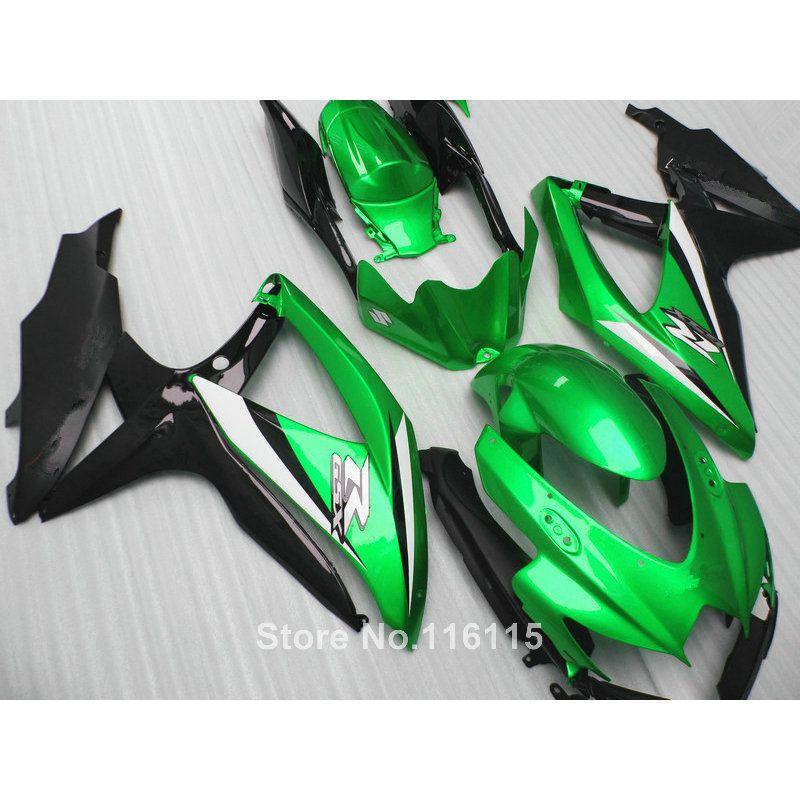 fairing kit for SUZUKI K8 K9 GSXR 600 700 2008 2009 2010 GSXR600 GSXR750 08 09 10 green black ABS fairings 62-58