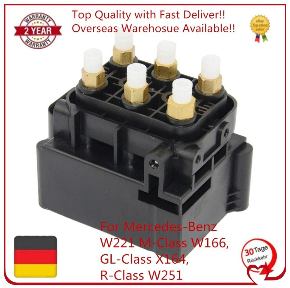 For Mercedes-Benz W221 M-Class W164, GL-Class X164, R-Class W251 Air Suspension Solenoid Valve A2123200358 1663200204 A251320005