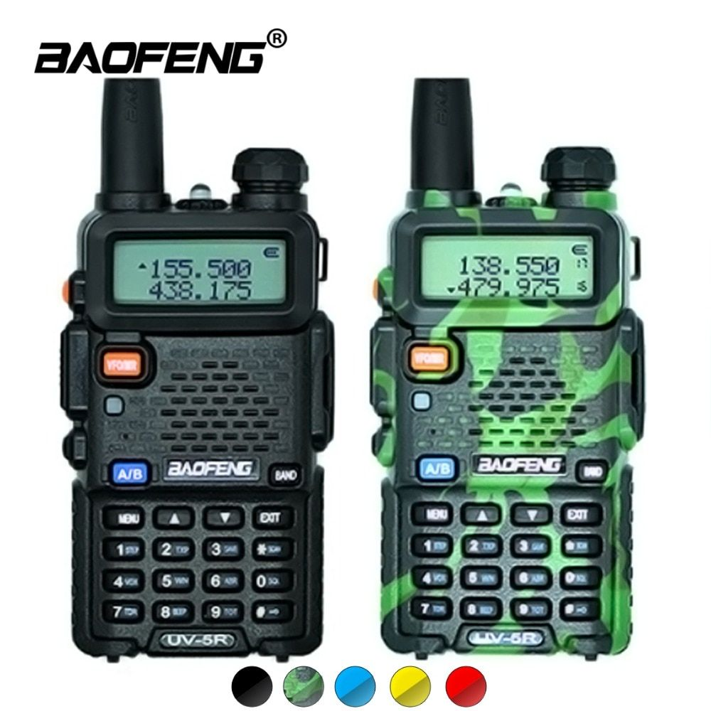 <font><b>2Pcs</b></font> Baofeng UV-5R Walkie Talkie UV5R CB Radio Station 5W 128CH VHF UHF Dual Band UV 5R Two Way Radio for Hunting Ham Radios
