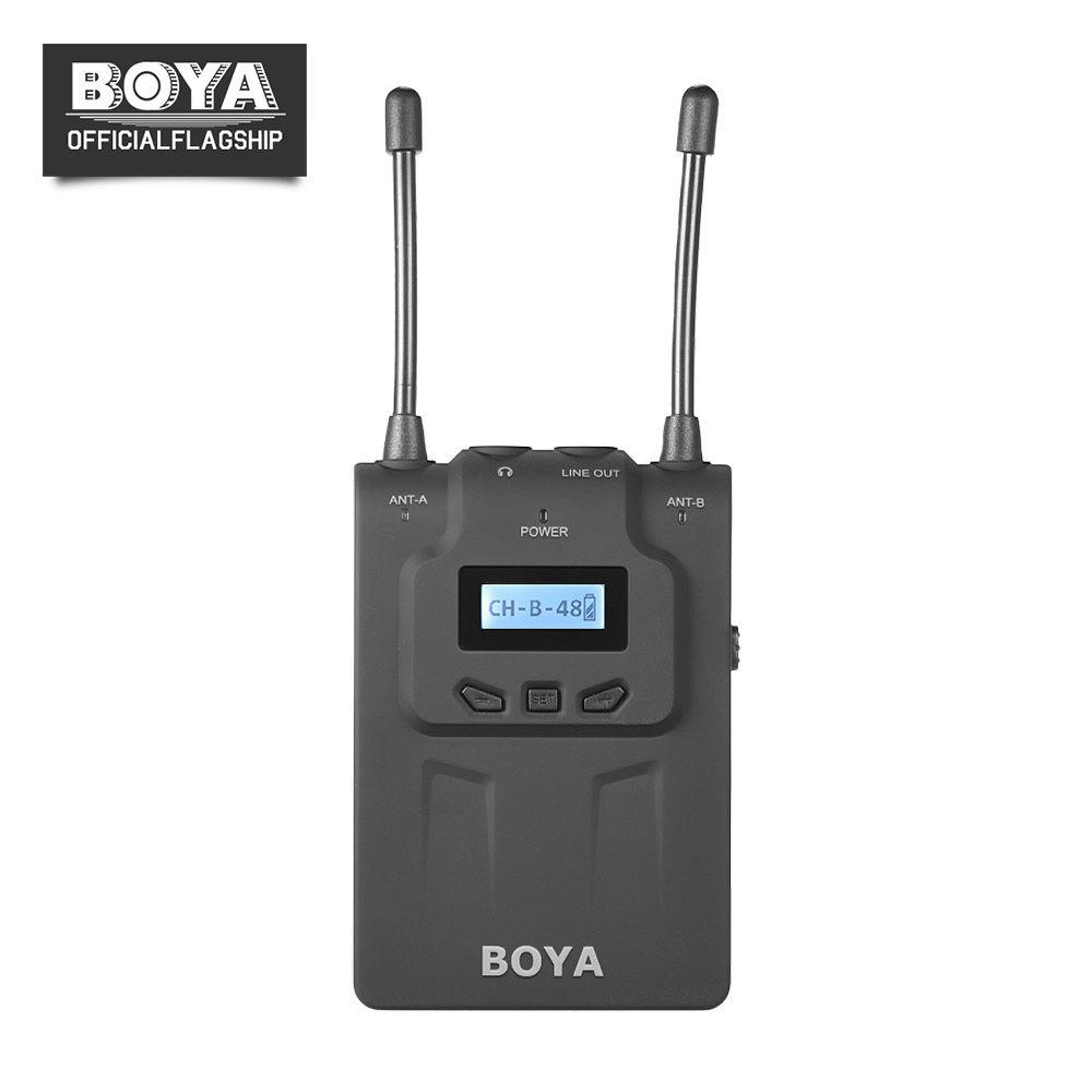 BOYA BY-WM8R Double Canal UHF Sans Fil Microphone Récepteur pour Ordinateur De Poche Vidéo Mic Émetteur BY-WHM8 BY-WXLR8 ENG PEF Karaoké