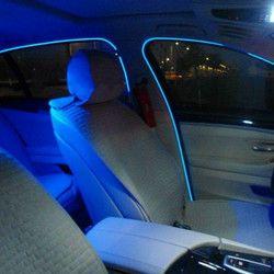 Jurus 2 шт. 1 м/2 м/3 метров Гибкая неоновый свет свечение EL салон провод плоский светодиодные полосы для автомобиля фары с контроллером Бесплатн...