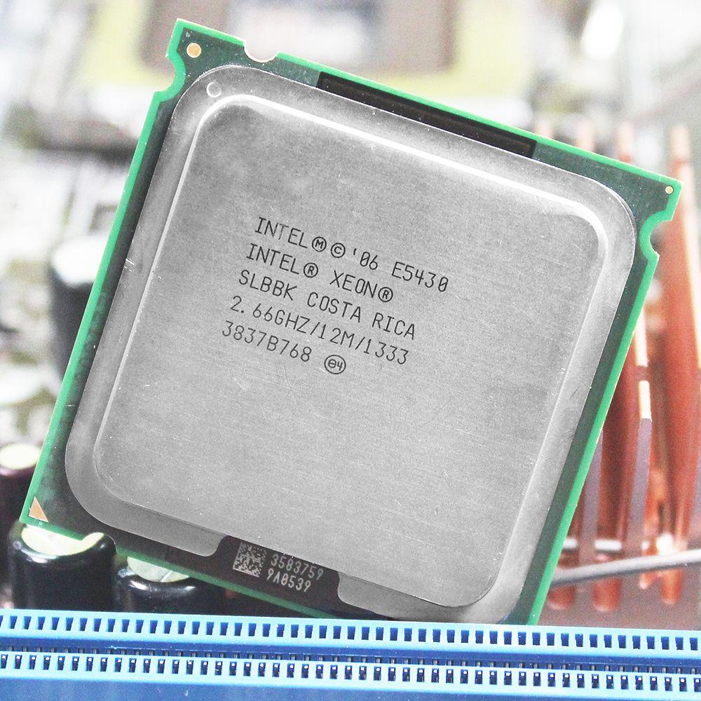 Processeur INTEL XEON E5430 processeur INTEL E5430 quad core 4 core 2.67 MHZ LeveL2 12 M travail sur carte mère LGA 775