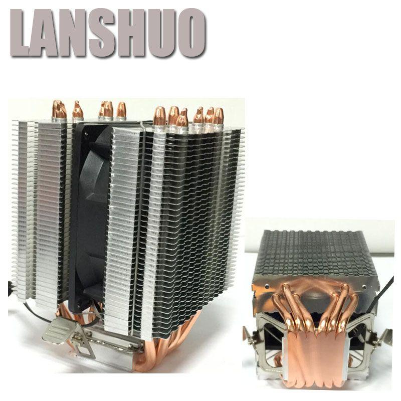 LANSHUO AMD Intel CPU Processor Cooling Fan Cooler Fan heat sink Fan Processor Cooling Fans 775 1155 1150 1366 2011
