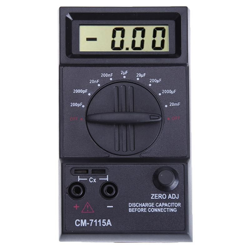 Handheld Digital Capacitance Meter High Precision Electronic Capacitance Multimeter With Tester 1999 Counts Electrical Measuring