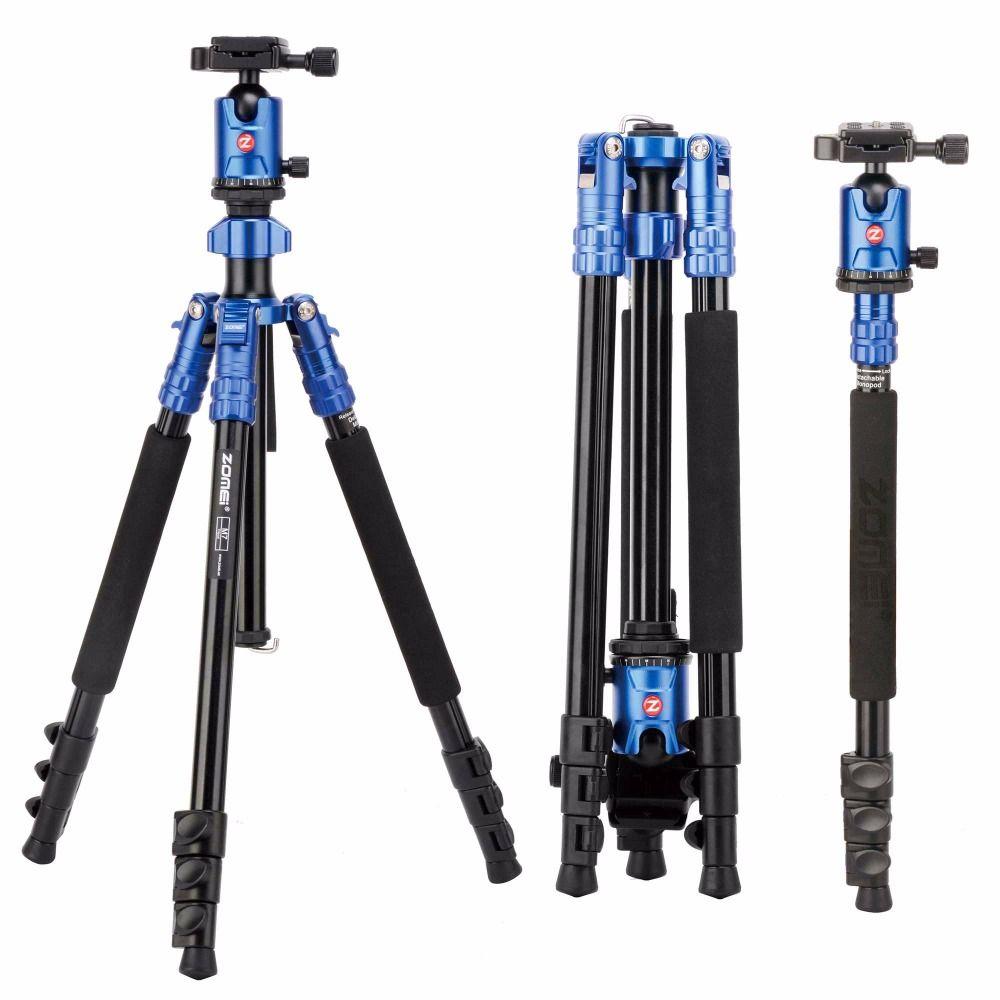 ZOMEI M7 Professionelle Heavy duty Reise Stativ Einbeinstativ Standplatz mit Kugelkopf 3 Farben Tragbare Für SLR DSLR Kamera