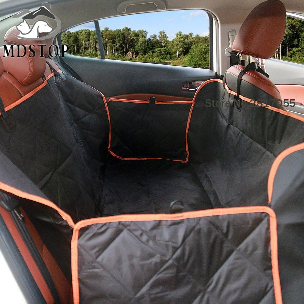 Nonslip Quilted Pet Hammock Waterproof Rear Back Seat Cover for Car Truck SUV Auto Cat Dogs Safety Belt Protector Mat Blanket