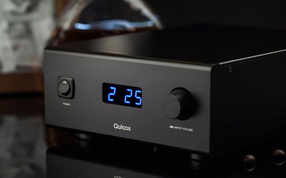 QLS HIFI QA690 Pure Full Digital Audio Amplifier Input PC USB/Coaxial*2/Optical/RCA Power Handle 160W*2 Support DSD 24Bit/192KHz