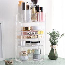 Nuevo organizador de maquillaje acrílico transparente esmalte de uñas pintalabios soporte de muestra cosmética cepillo de maquillaje organizador de almacenaje para maquillaje estante de la Caja