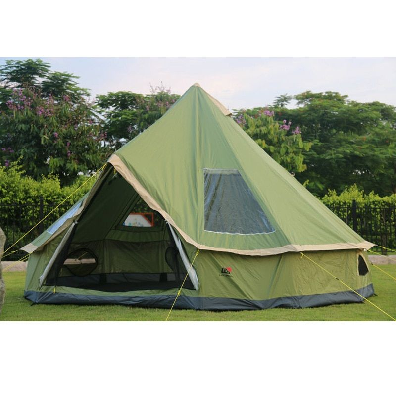 High quality 5-8 person Mongolia yurt family travel hiking anti mosquito sun shelter awning canopy beach outdoor camping tent