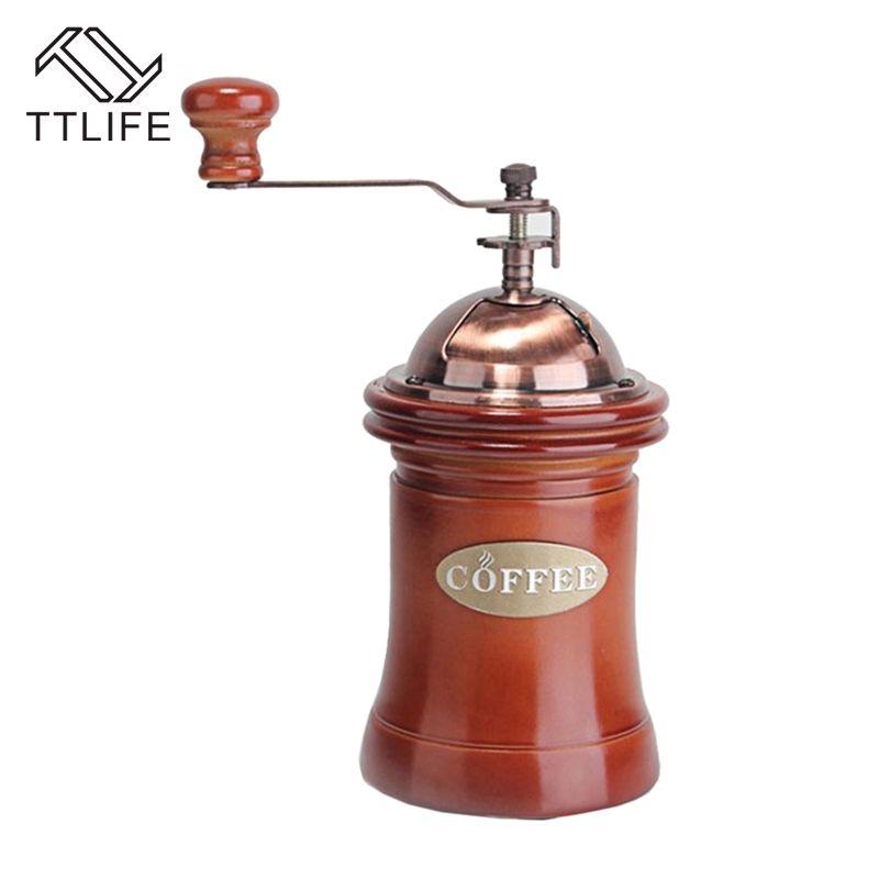Ttlife café noble Picadoras mano Picadoras hogar mini molino de Café Manual frijoles Tuercas Picadoras