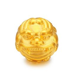 Murni 24 K Kuning Emas Pendant/Beruntung Pixiu gelang Manik-manik Liontin 1.96g