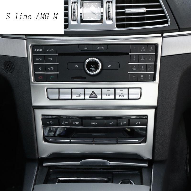 Auto styling Innen Klimaanlage CD Panel dekoration Abdeckung Trim Für Mercedes Benz E-klasse Coupe W207 C207 auto Zubehör
