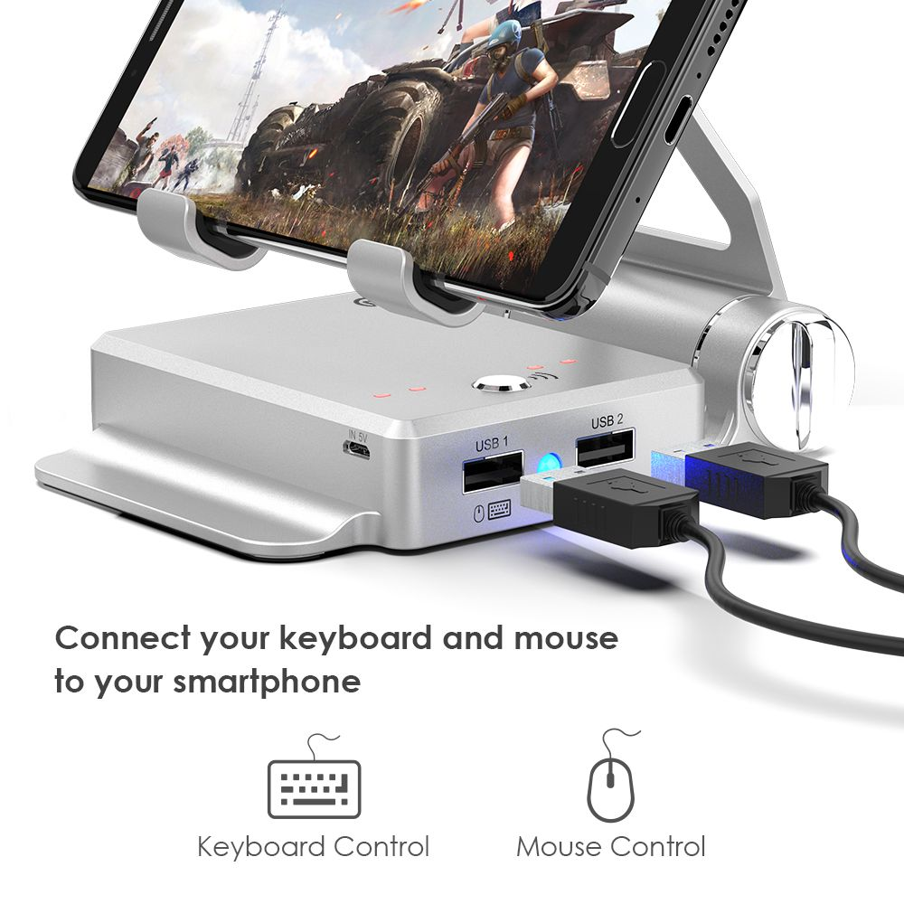 GameSir X1 BattleDock Converter Keyboard and Mouse Adapte for FPS Mobile games, AoV,Mobile Legends, RoS, Knives Out, Free Fire