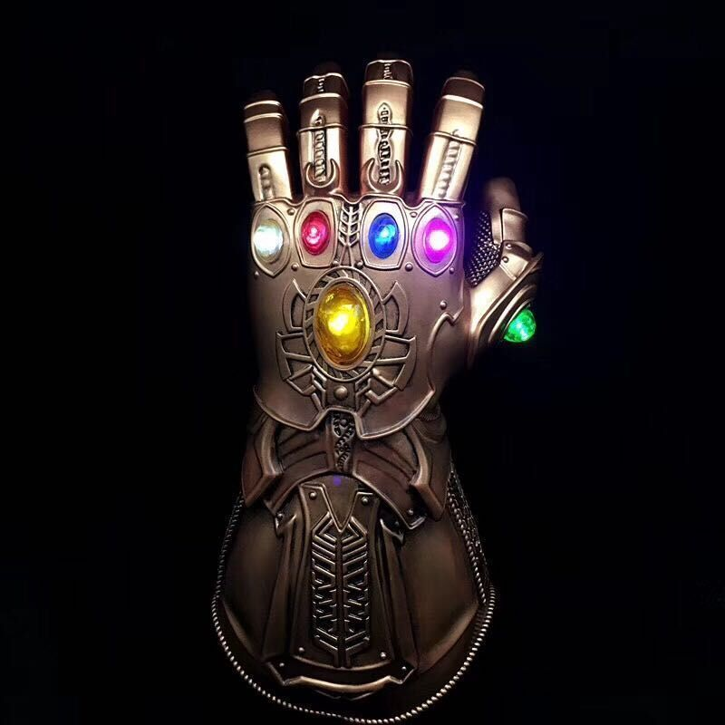 Avengers Infinity War Thanos Infinity Gauntlet LED Light PVC Gloves for Halloween Props