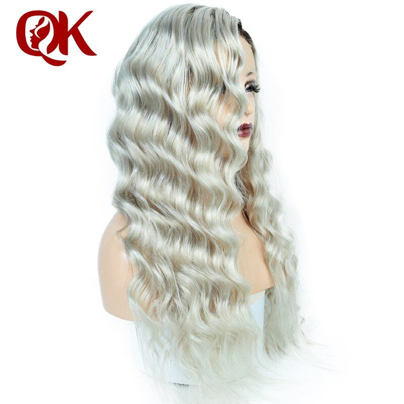 Queenking Hair 150% Density Ombre Kim Kardashian Human Hair Wig with Baby Hair Pre Plucked Full Lace Wig Brazilian Remy Hair