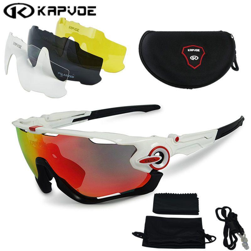 2017 Polarized Cycling sunglasses Cycling glasses Bicycle Running Fishing sport Sunglasses <font><b>bicicleta</b></font> Gafas ciclismo 4pcs Lens