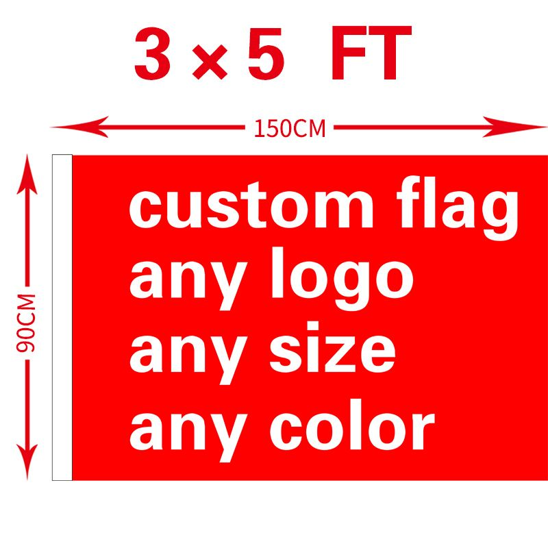 free shipping xvggdg Custom Flag 3x5FT 100D Polyester All Logo Any Colors Banner Fans Sport Custom Flags