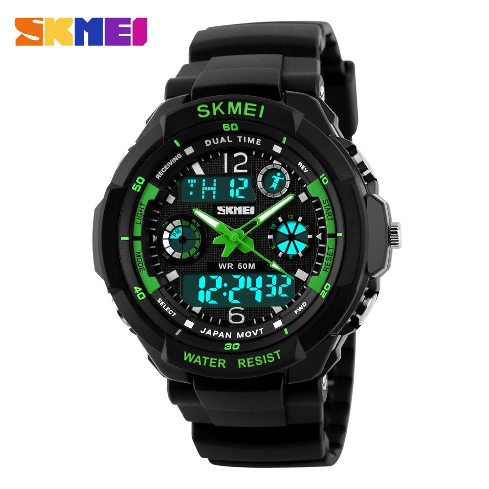 New S Shock Fashion Men Sports Watches Skmei <font><b>Analog</b></font> Quartz Digital Watch Multifunctional Military Watch Men Relogio Masculino
