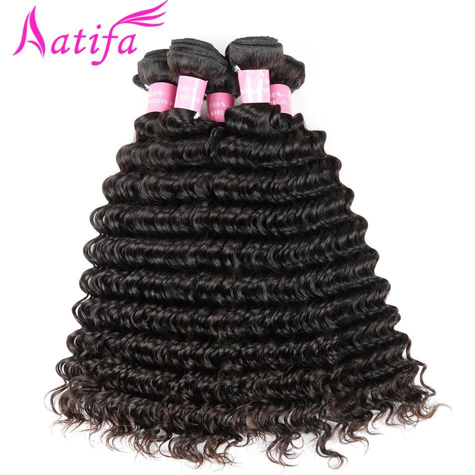 Malaisiens cheveux à vague profonde 1/3/4 pièces tissage de cheveux humains Bundles Naturel Couleur cheveux remy Faisceaux Aatifa 10-28 pouces Livraison gratuite