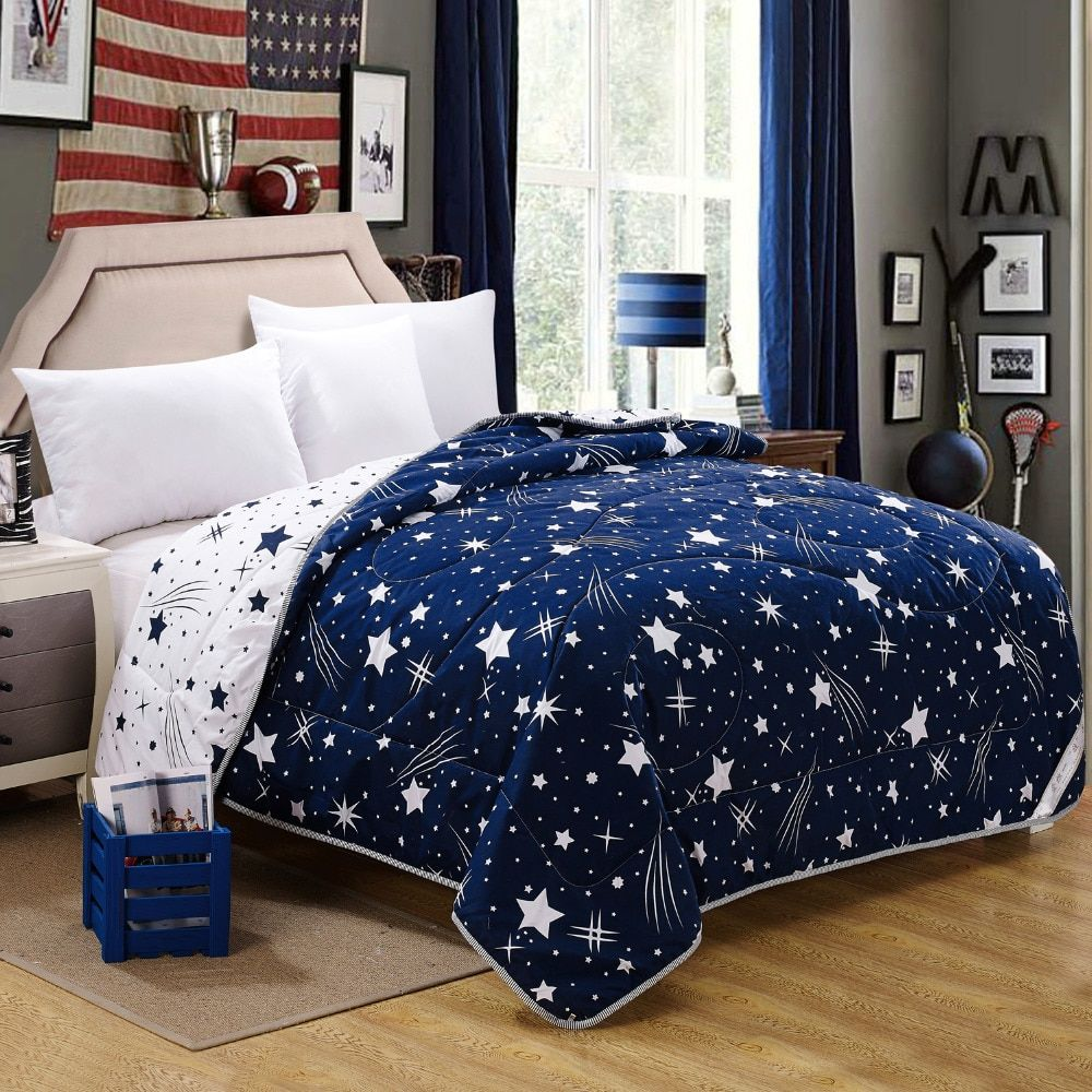 100% microfiber fabric summer quilts/comforter printed starry free shipping three sizes for adults
