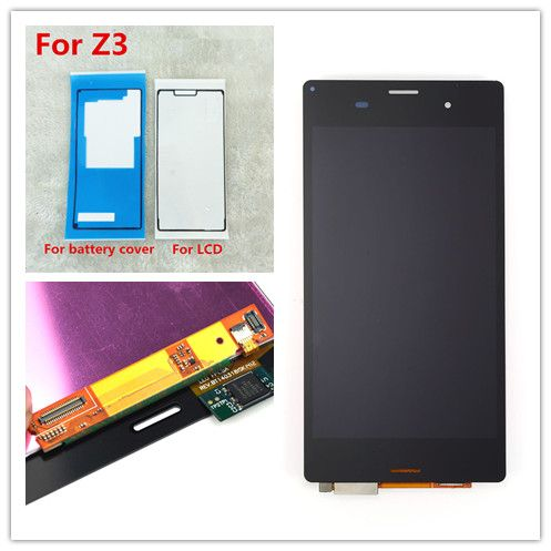 JIEYER 5.2' Black or white Tested LCD Display For Sony Xperia Z3 D6603 D6653 L55t D6683 Touch Screen & Digitizer Assembly Repai