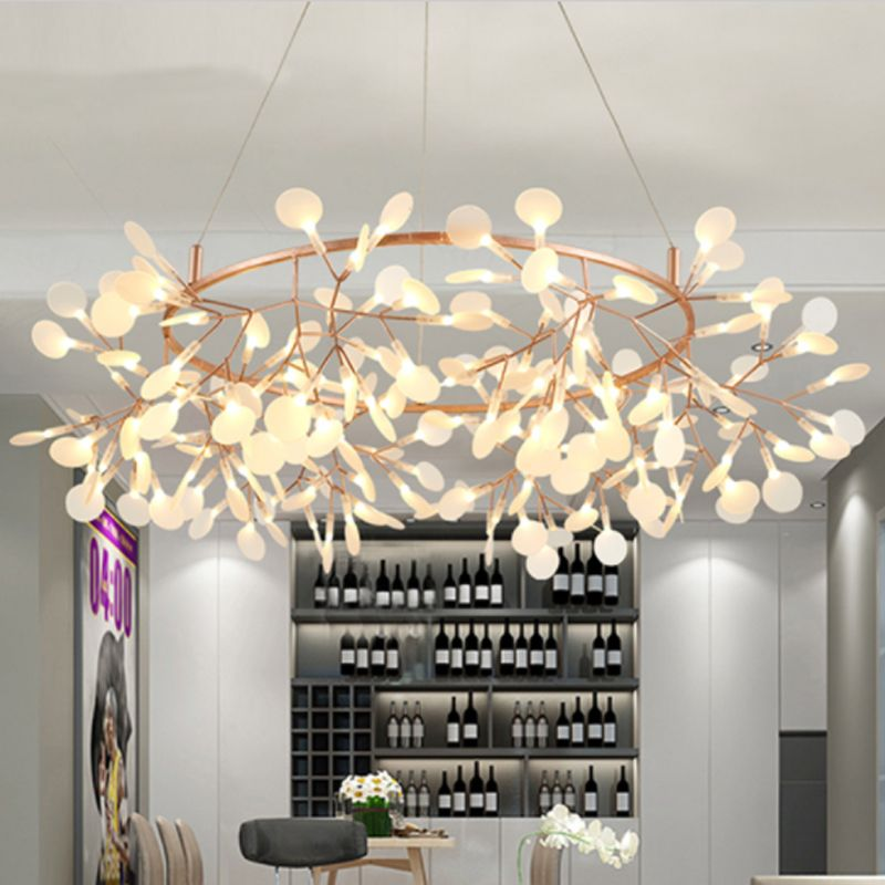 Art Decorative Olive Branch Pendant Europe Style LED Hanging Lights Leaves Foyer Parlor Lobby AC110/220V Cafe Dynasty Free Ship