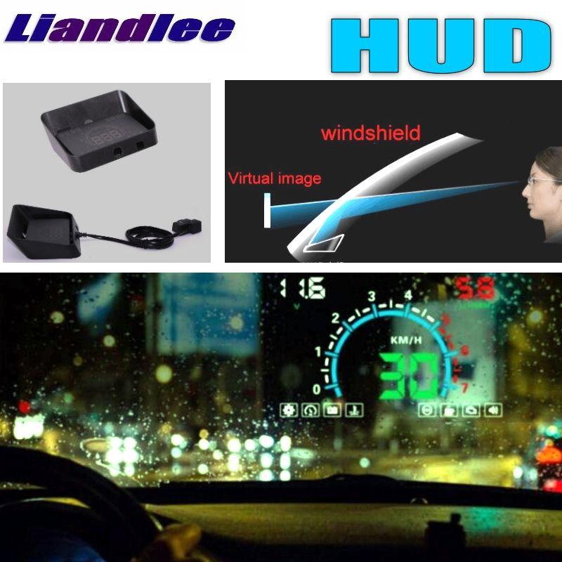 Liandlee HUD For TOYOTA iQ Innova Ist xA Urban Cruiser Ipsum Digital Speedometer OBD2 Head Up Display Big Monitor Racing HUD