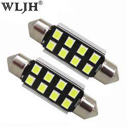 WLJH 10x Auto Licht 31mm 36mm 39mm 41mm CANbus C5W Led Glühbirne 2835 SMD Für audi Volkswagen Mercedes-Benz BMW E36 E46 E90 E60