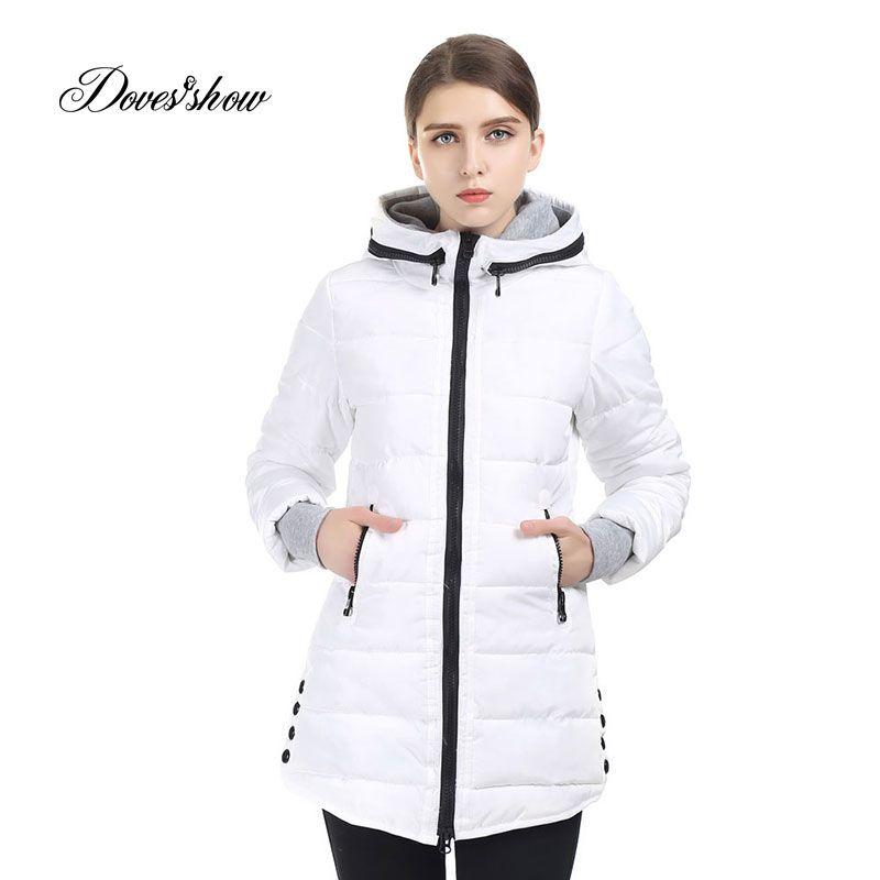 Neue Warme Winterjacke Frauen Mit Kapuze Baumwolle Gefütterte Parka Baumwolle Mantel Plus Größe Wadded Daunenjacke Grundlegende Mantel Casacos Feminino