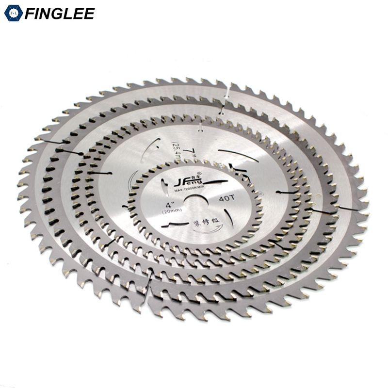 FINGLEE 1 Pc 4/7/8/10/12 pouces TCT lame de scie circulaire à bois lame de coupe en plastique acrylique usage général pour le bois tendre dur