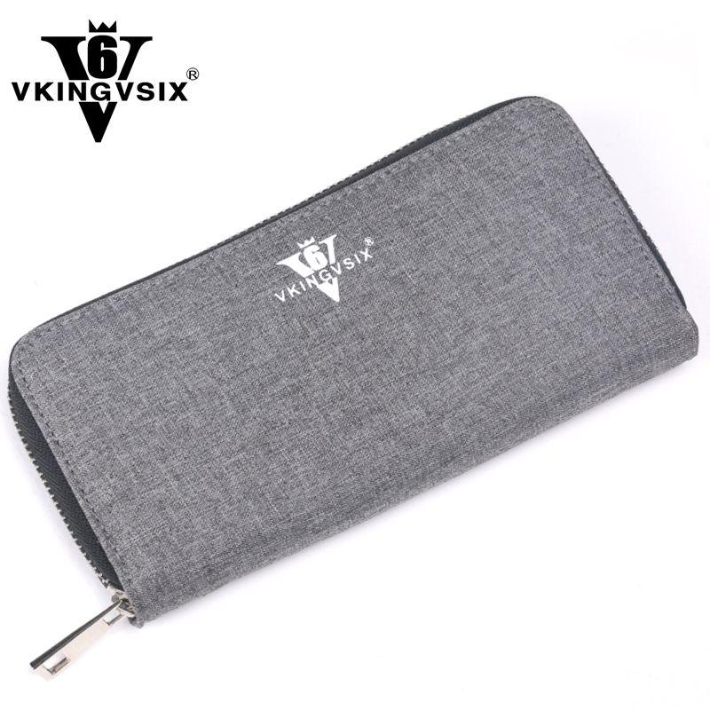 VKINGVSIX Polyester Brieftasche 19x10 cm Frauen Männer Geldbörse Kreditkarten ID Halter schlanken geldbörsen handtaschen geld taschen billetera Geldbörsen