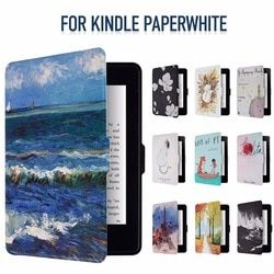 Inteligente Kindle Paperwhite caso Shell PU cubierta elegante de cuero para Amazon Kindle Paperwhite1 2 3 [Auto Wake Up /función de sueño]