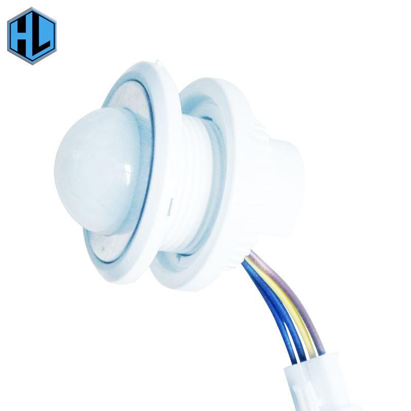 1 stücke 40mm Einstellbarer Modus Detektor Infrarotschalter Controller PIR Infrarot-bewegungssensor Für Innenbeleuchtung Led-deckenleuchte