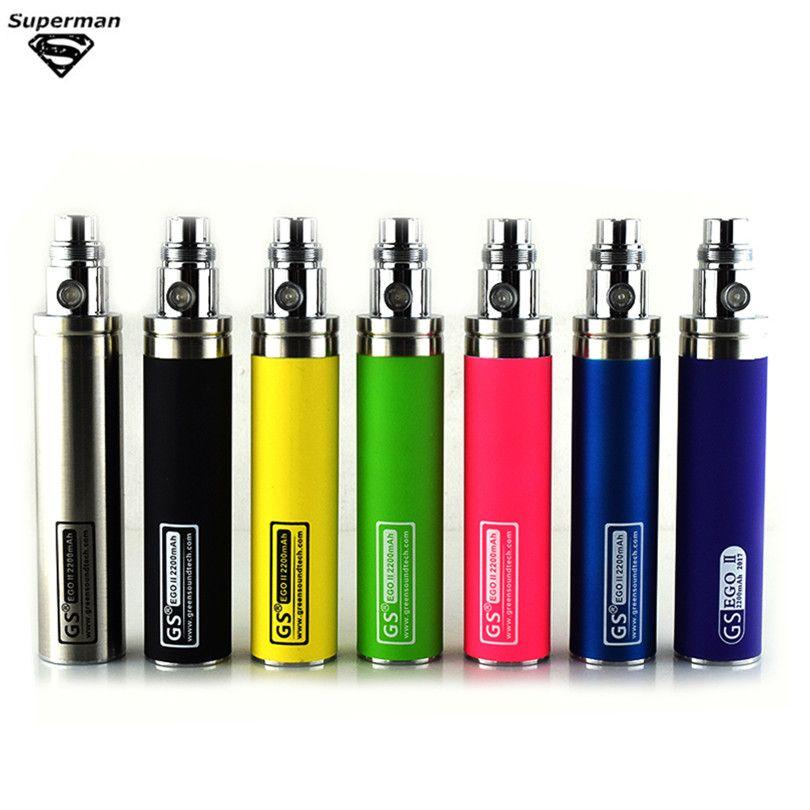 Coloré Nouvelle Grande Capacité 2200 mah EGO II 1 Semaine Batterie Pour E Cigarette Ego/510 Fil Batterie Fit CE4 CE5 Mt3 E Cigarette